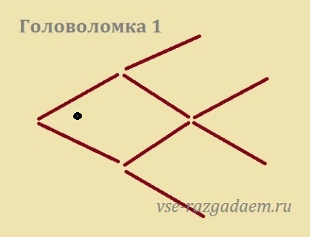 головоломка с палочками