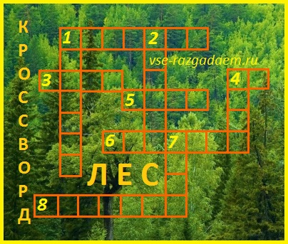 кроссворд на тему лес