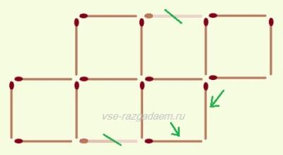 головоломки с спичками