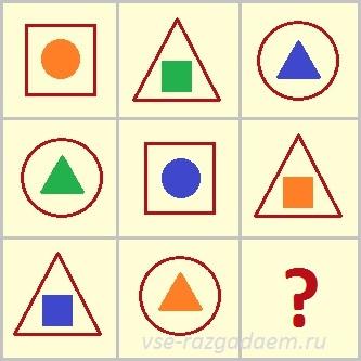 какой фигуры не хватает, логическая головоломка, логические головоломки, головоломка, головоломки
