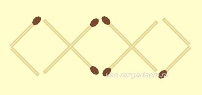 головоломки из спичек, головоломка из спичек, головоломка из спичек три квадрата, головоломка из спичек 3 квадрата, головоломки, головоломка